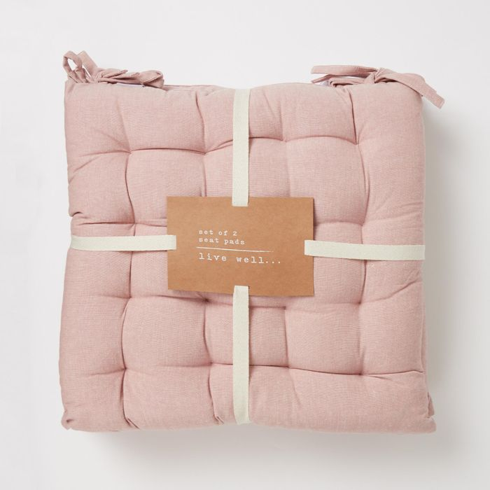 Debenhams-2 Pack Pink 'Kyoto' Cotton Cover Seat Pads