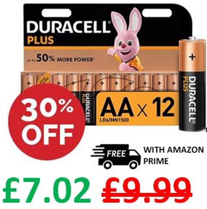 DURACELL PLUS AA Batteries (12 Duracell Batteries)