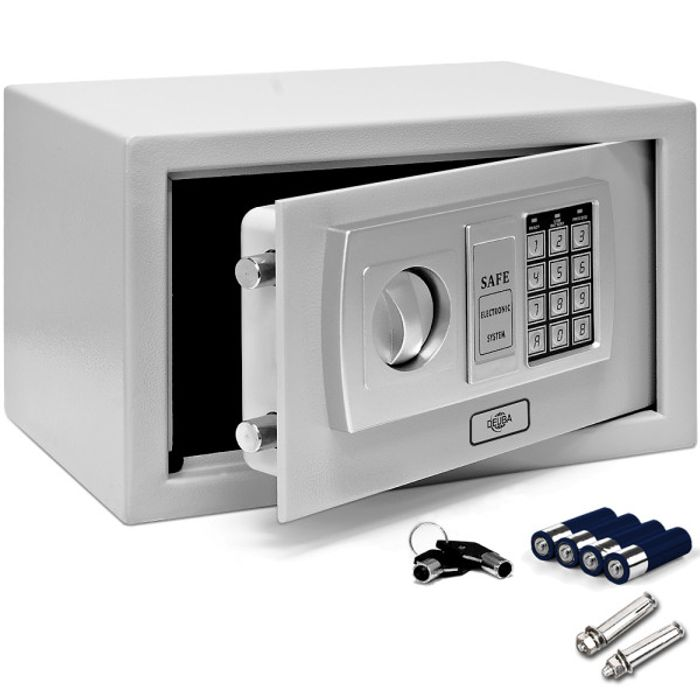 Digital Safe with Double Lock Bolt -31x20x20cm Incl. Batteries