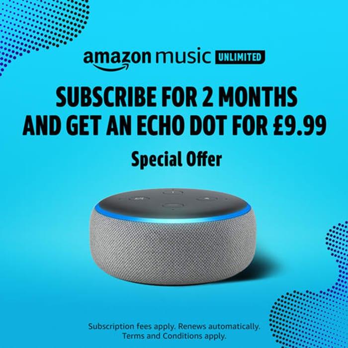 Amazon Echo Dot for £9.99