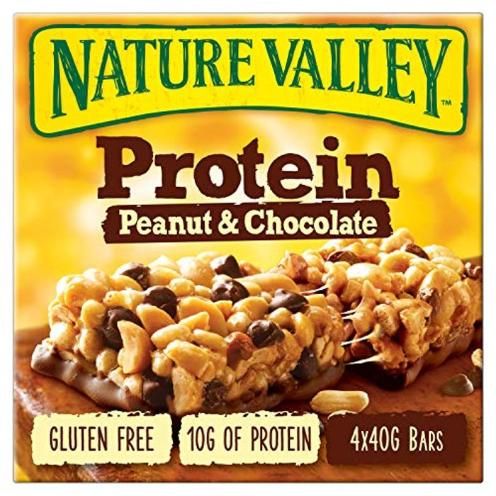 Pantry Item Nature Valley Protein Peanut & Chocolate Gluten Free Cereal Bars x 4