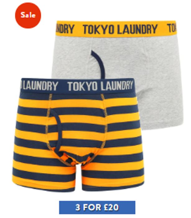 Special Offer - Tokyo Laundry - 6 Pairs Of Men's Boxer Shorts - £20