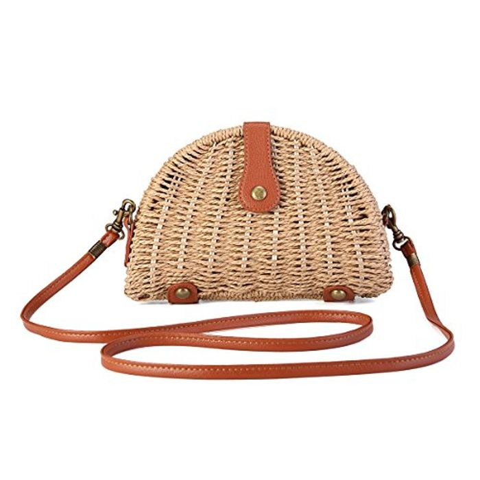 40% off Crossbody Straw Bag
