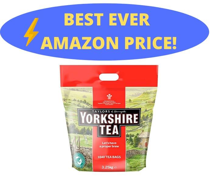 Yorkshire Tea Bags, 3.25 Kg (1040 Teabags)