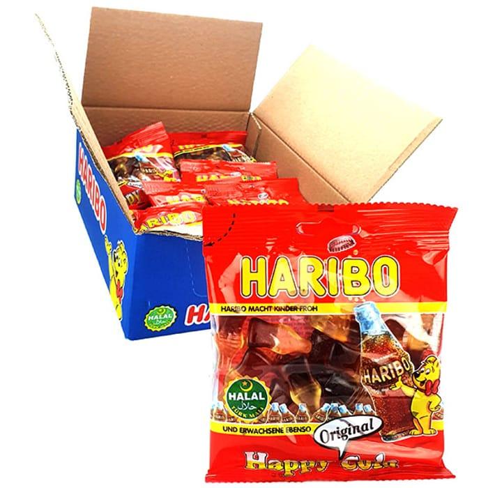 Best Price! 24 X Haribo Happy Cola Sweets 100g Packs