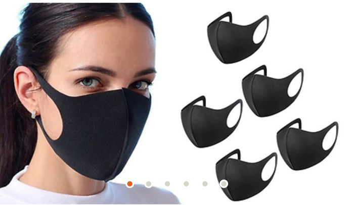 Approx £1.19 Each for 10 with P&P Reusable Flexible Face Masks - 10,20,50 Pack