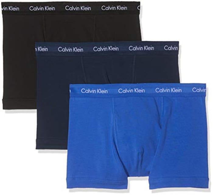 Calvin Klein Men's Trunks / Underwear Pack of 3 - Cotton Stretch