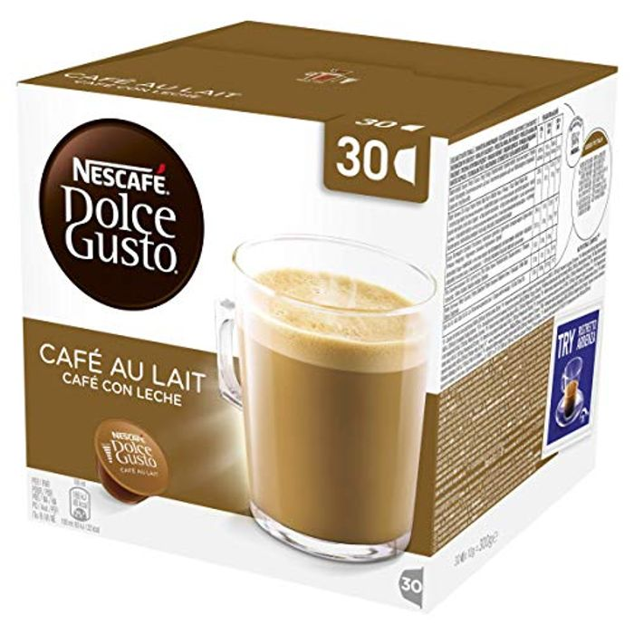Nescaf Dolce Gusto Cafe Au Lait Coffee Pods, 30 Capsules (30 Servings)