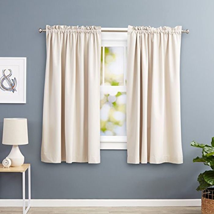 Like New 168x183cm Beige Blackout Curtains