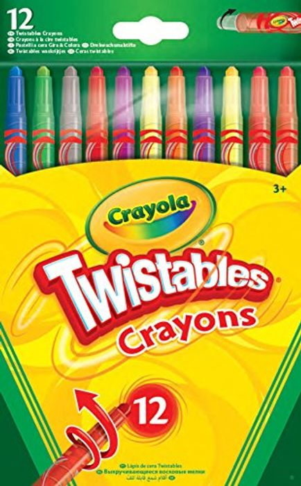 Back Again! CrayolaTwistables Crayons, Pack of 12 - Multicolour