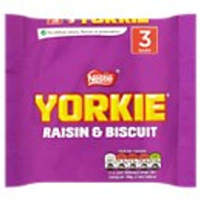 Best Price! Yorkie Raisin & Biscuit Chocolate Bar 3 Pack