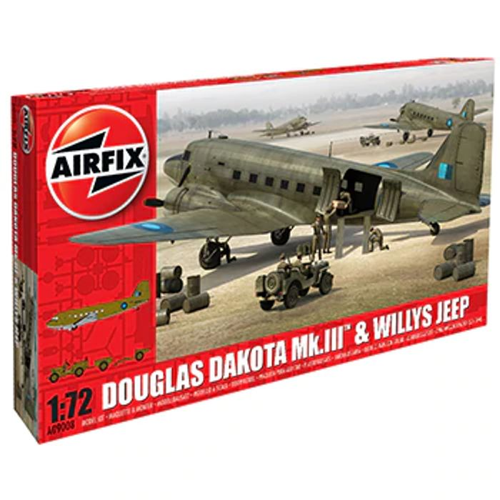 Airfix Douglas Dakota MkI II and Willys Jeep