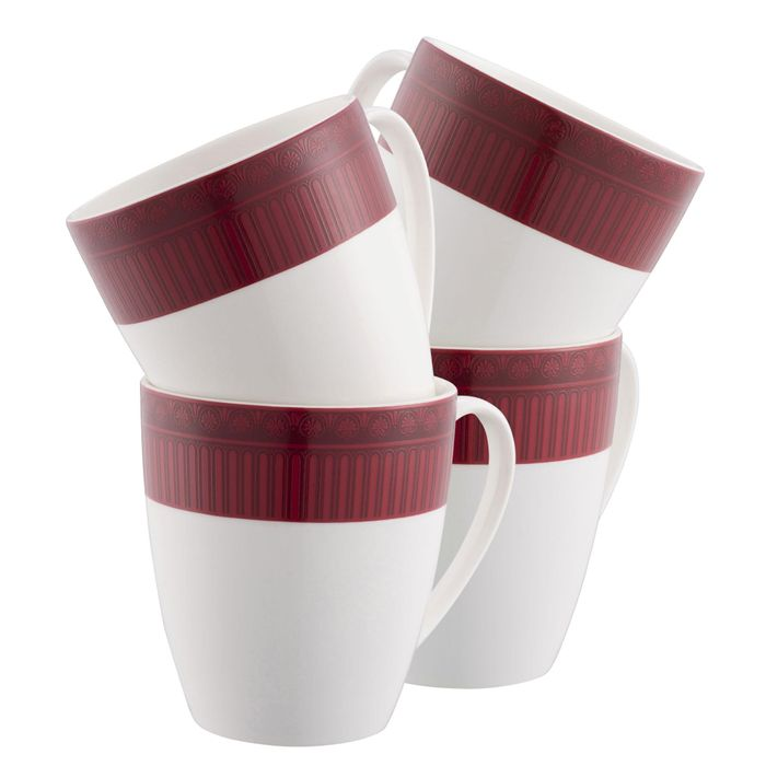Aynsley China - Fortuna Four Mug Set with 50% Discount - Great Buy!