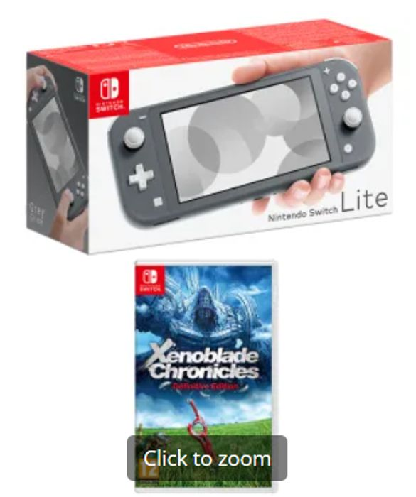 NINTENDO SWITCH LITE - GREY + XENOBLADE CHRONICLES: DEFINITIVE EDITION Only £244