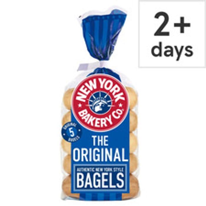 New York Bakery Plain Bagels 5 Pack