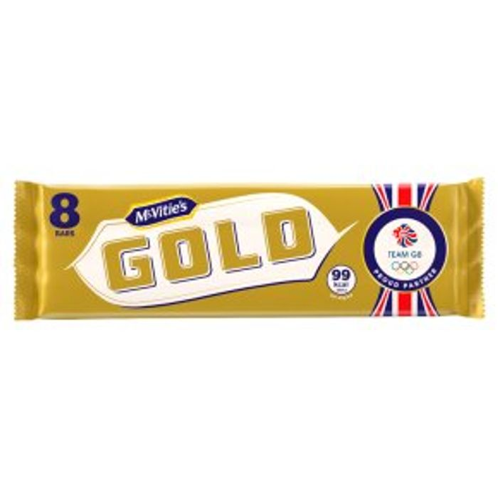 Special Offer - McVitie's 8 Gold Bars 142g 2for£2