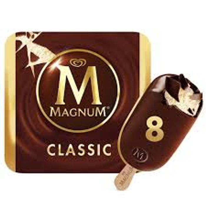 2 Boxes of 8 Manums Full Size Milk Choc or White at Farmfoods
