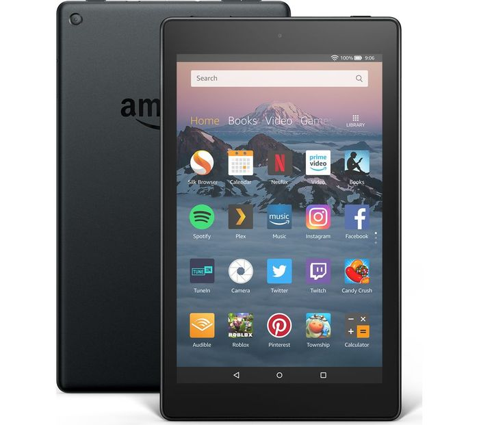AMAZON Fire HD 8 Tablet (2018) - 16 GB, Black on Sale From £79.99 to £44.97