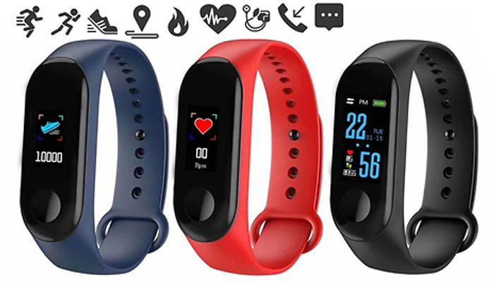 M3 plus Smart Fitness Bluetooth Watch - 3 Colours