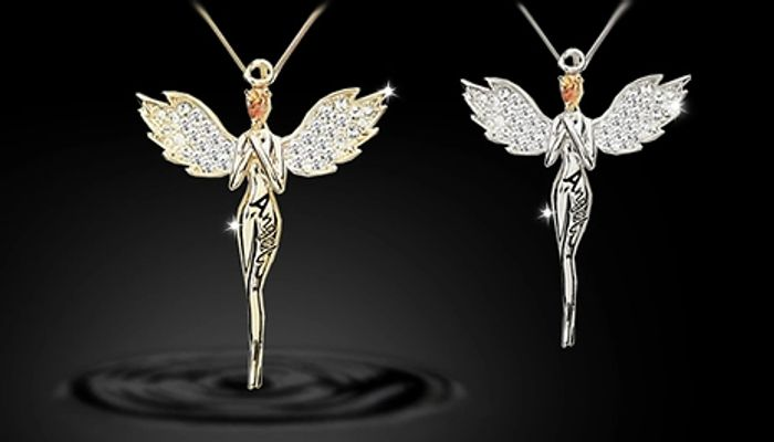 Guardian Angel Necklace with Crystals from Swarovski Del £2.99