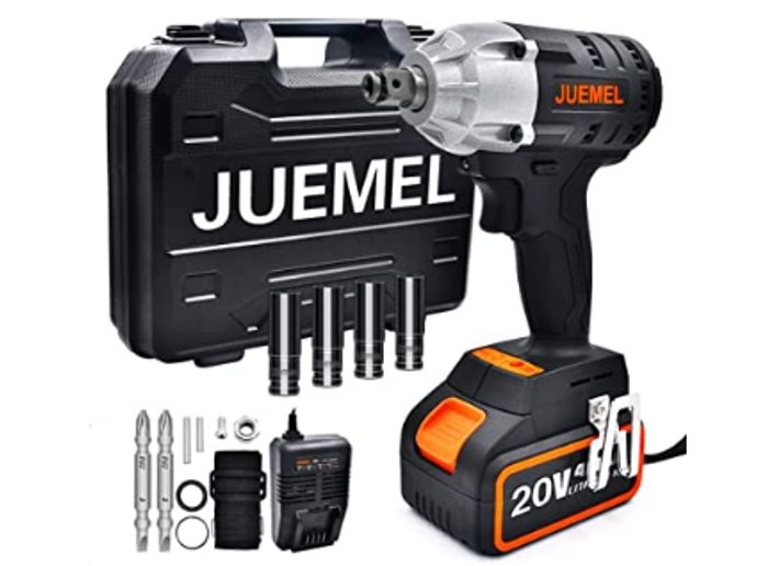 40% off Cordless Impact Wrench with 14 Accessories, Include Fast Charger