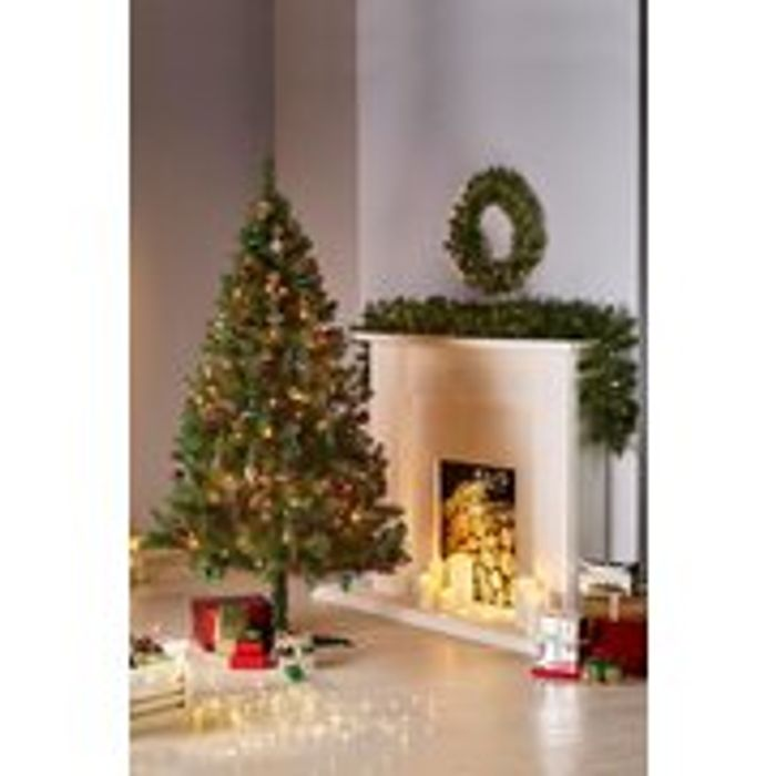 6ft Christmas Tree, Wreath and Garland Set