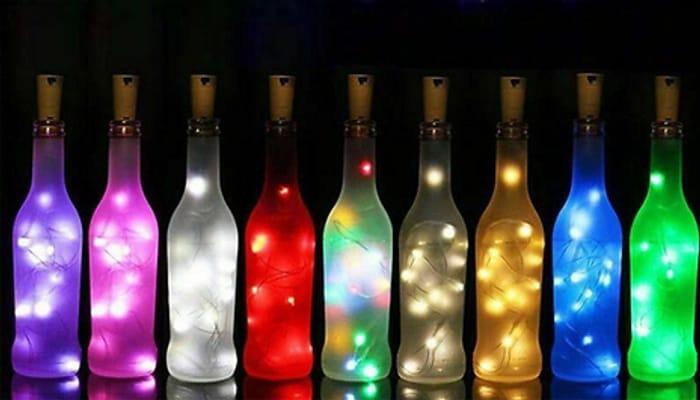 String of 20 LED Bottle Lights - 7 Colours £7.99 Inc Del