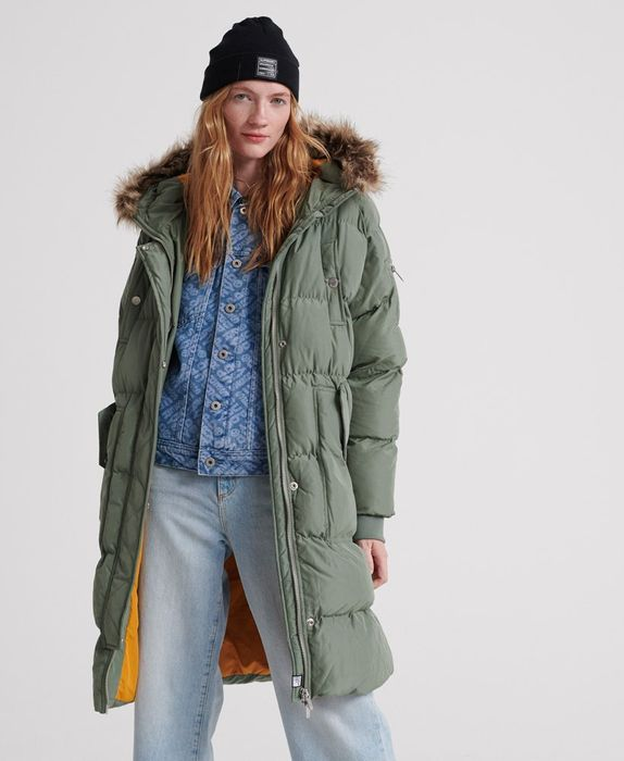 SUPERDRY Luxe Longline Puffer Jacket Womans