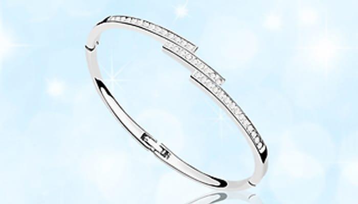 Swarovski Elements Triple Row Bracelet - £7.49 Delivered