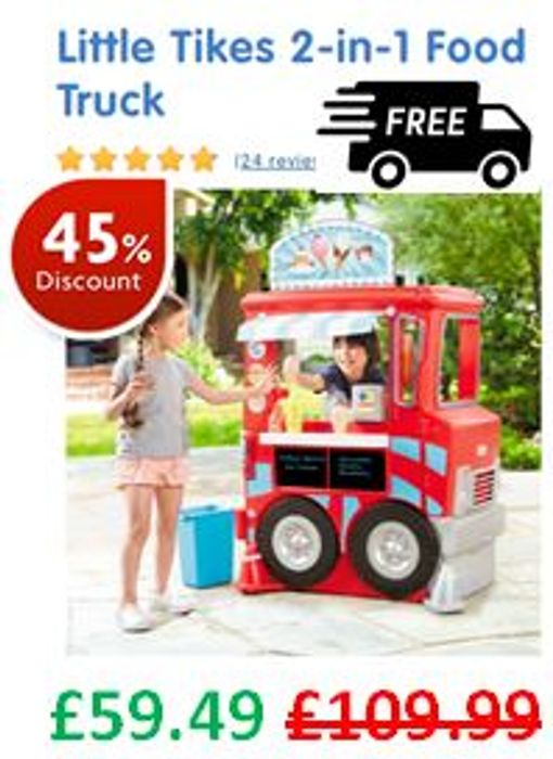 Little Tikes 2-in-1 Food Truck **4.7 STARS**