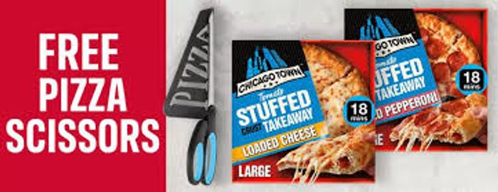 Buy 2 Chicago Town Large Takeaway Pizzas £5 & Free Pizza Scissors