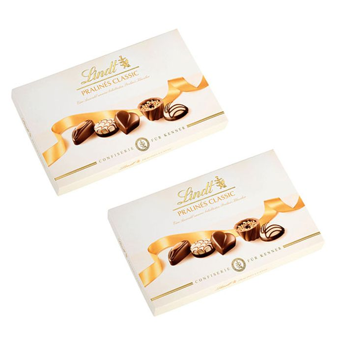 2 X Boxes of Lindt Pralines Classic Swiss Chocolate