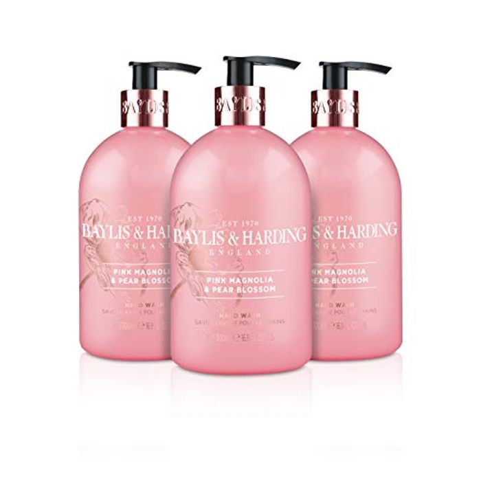 Baylis & Harding Pink Magnolia and Pear Blossom Hand Wash, 500 Ml, Pack of 3