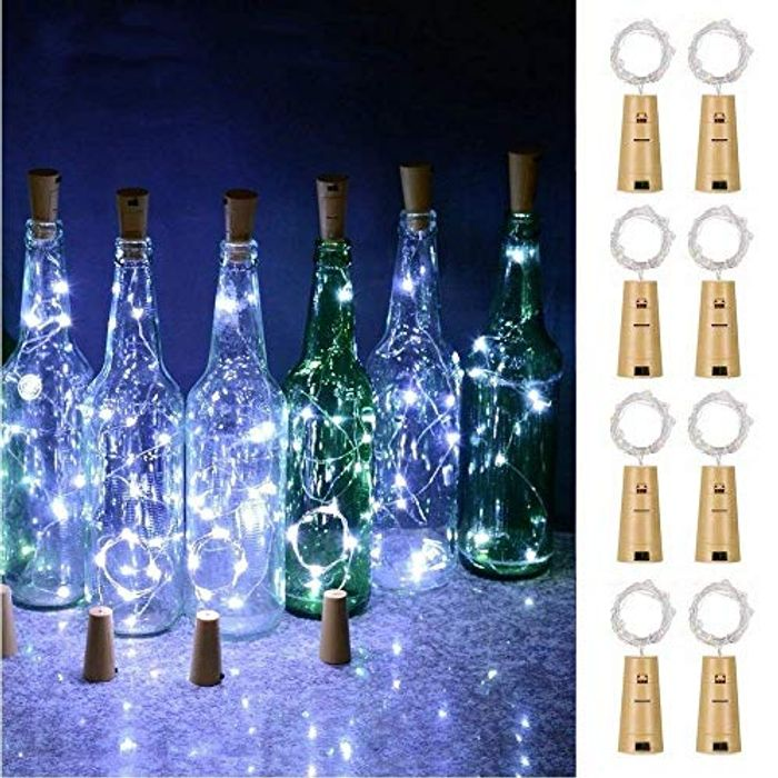 Wine Bottle Lights with Cork, Battery Operated 20 LED Lights