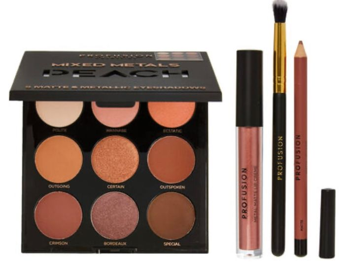 PROFUSION Peach Mixed Metals Eyes & Lips Palette