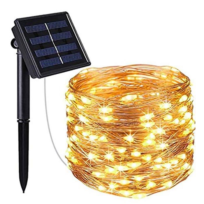 Solar Powered String Lights, (10M) at Amazon