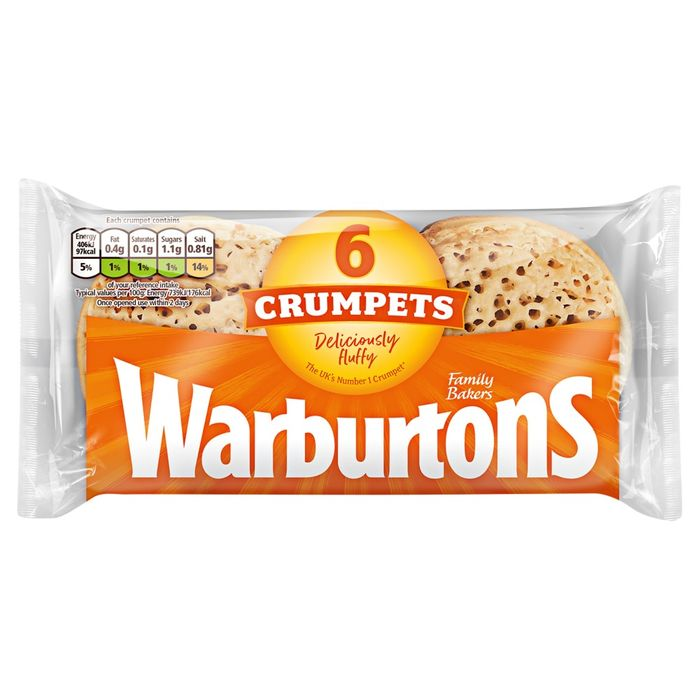 Warburtons Crumpets 6 Pack - Only £0.69!