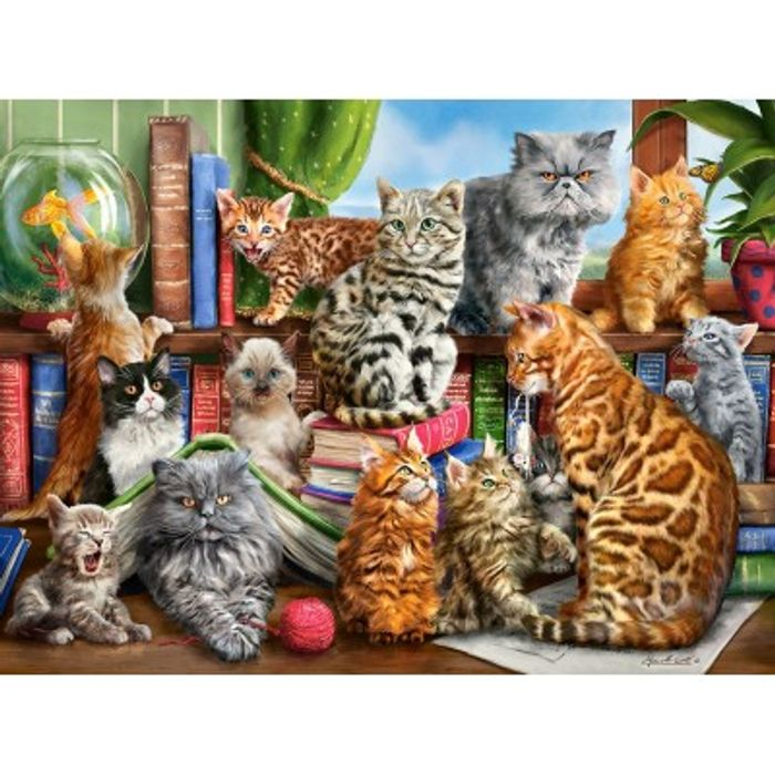 Cheap House of Cats 2000 Piece Jigsaw Puzzle - Only £11.95!