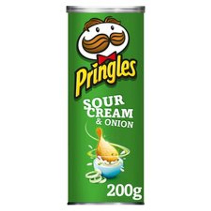 Pringles Sour Cream & Onion 200G plus Other Varieties