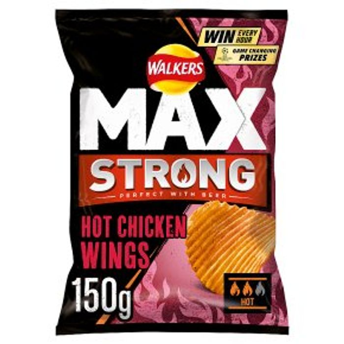 Best Price! Walkers Max Hot Chicken Wings 150g at Waitrose