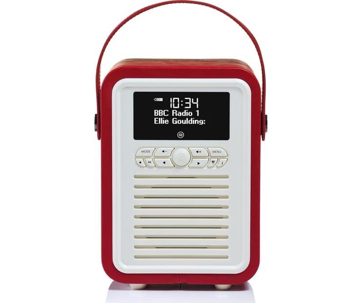*HALF PRICE* VQ Retro Mini Portable DAB+/FM Bluetooth Radio - Red