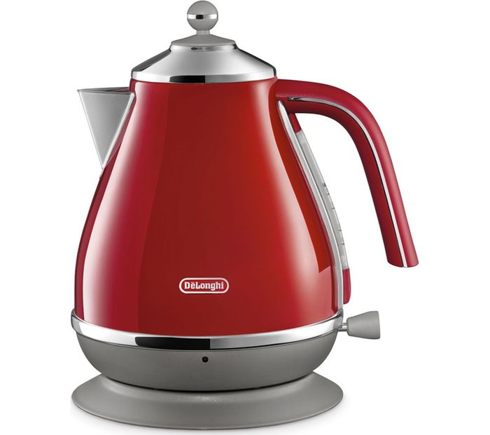 Cheap DELONGHI Icona Capitals KBOC3001.R Jug Kettle - Red Only £49.99