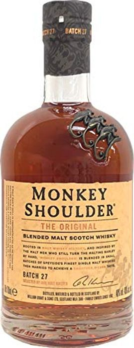 Monkey Shoulder Blended Malt Whisky, 70 Cl