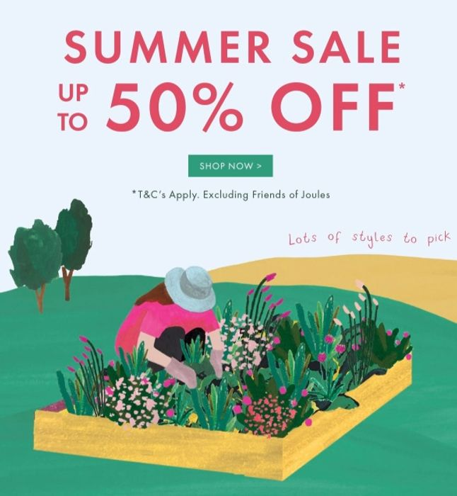 Joules Summer Sale Starts Today