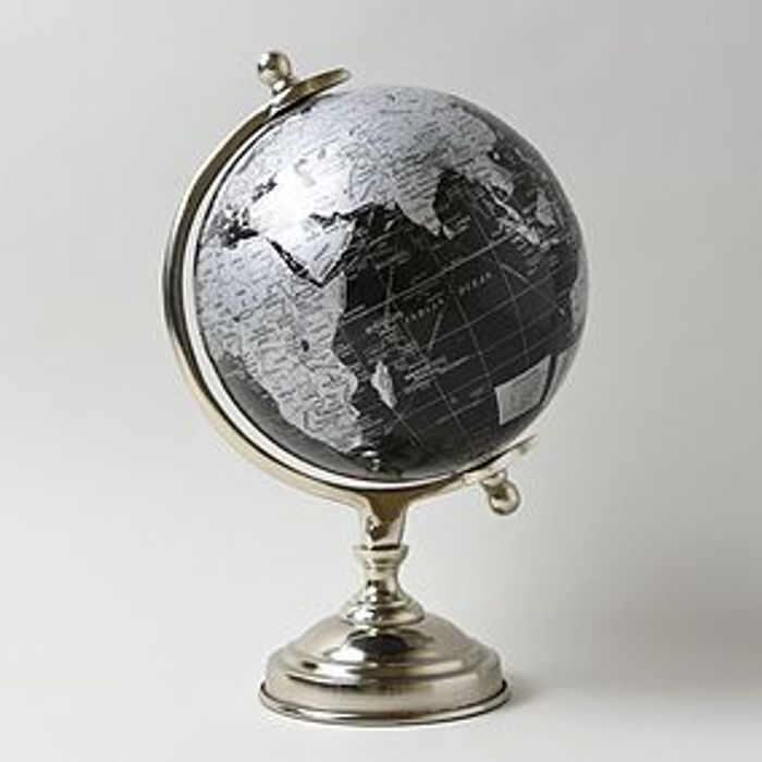 *SAVE 20%* Decor Black and Silver Globe