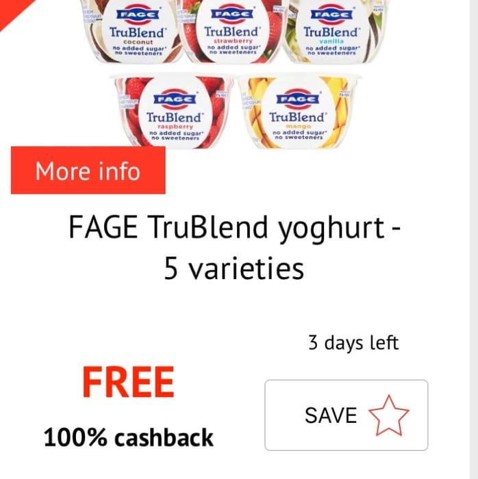 Free Fage Yogurt with Cashback
