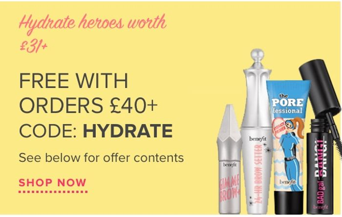 Get Hydrate Heroes Free with Orders over £40