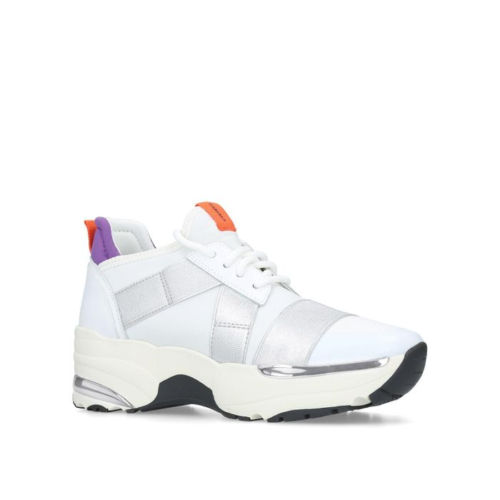 Carvela - White 'Lauryn' Low Top Trainers ( Sizes 4,5 and 7 )