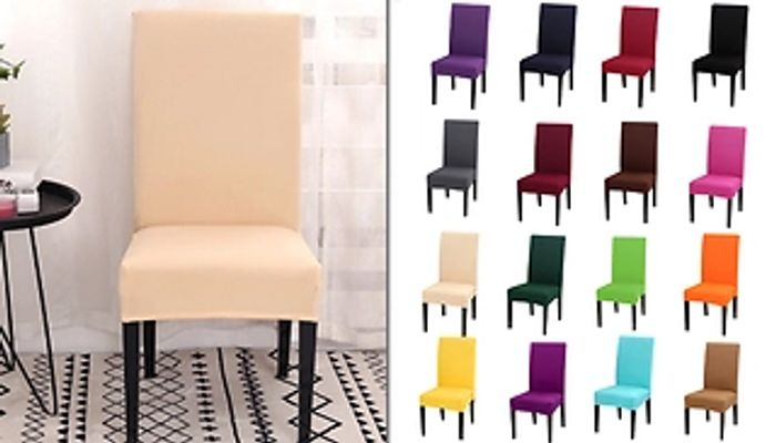 1, 2 or 4 Spandex Dining Chair Covers + EXTRA 10% Off