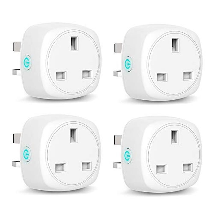 4 Pack - Aoycocr Smart Plug WiFi Socket Compatible with Alexa